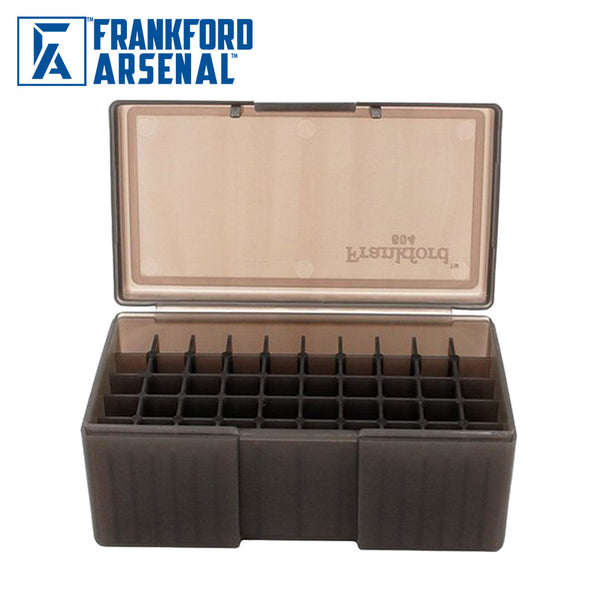 Frankford Arsenal Hinge Top Ammo Box 50 Round Grey