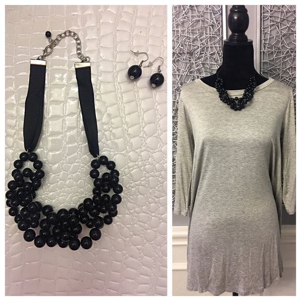 Blackberry Earring & Necklace Set