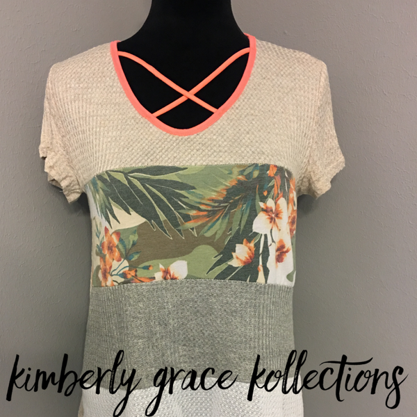 CrissCross Tropical Top