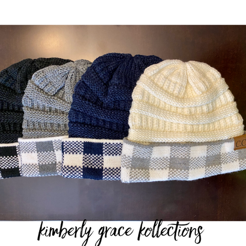 (Women) CC Plaid Beanies