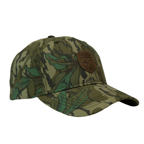 gamekeeper bottomland leather logo hat