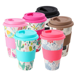 400ml Portable and Reusable Bamboo Fibre coffee cup