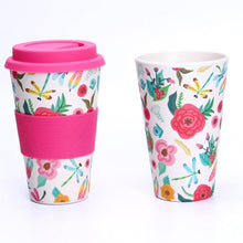 Load image into Gallery viewer, 400ml Portable and Reusable Bamboo Fibre coffee cup
