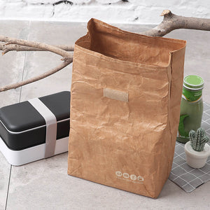 6L Lunch Bag kraft paper bag Reusable