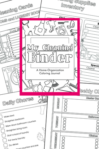 Coloring Cleaning Binder - A Home Organization Binder