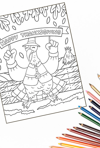 Thanksgiving Coloring Pages Pack - Over 60 Turkey Coloring Pages PLUS 30 Thanksgiving Dot To Dot Pictures