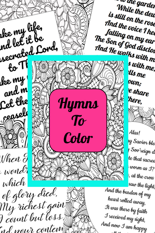 Hymns Coloring Pages {20 Different Hymns}