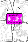 Unicorn Coloring Pages {20+ designs...20+ with frames & 20+ without frames}
