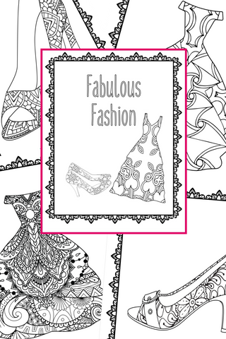 Fabulous Fashion Coloring Pages