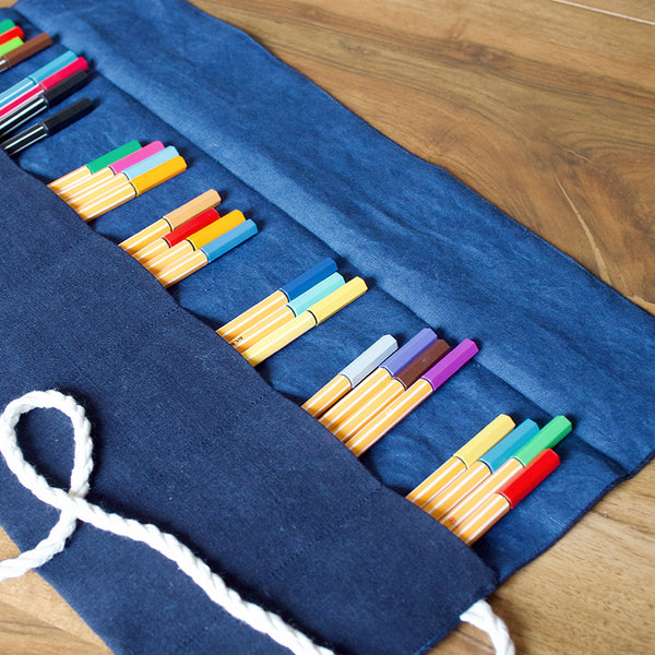 Sustainable Scrap Busting: Roll-up Pencil Case