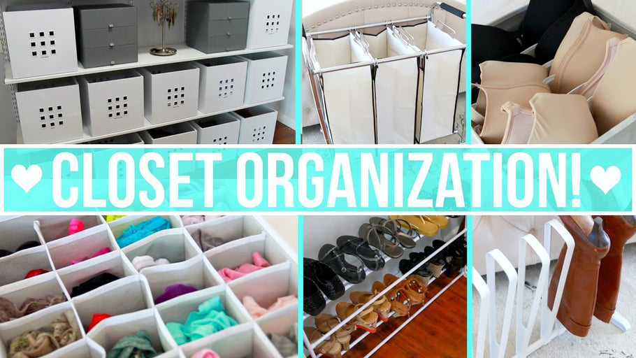 How to organize your closet including: clothing drawers, clothes, shoes, boots, jewelry, purses, bras and more! Links and more info below☟ ...