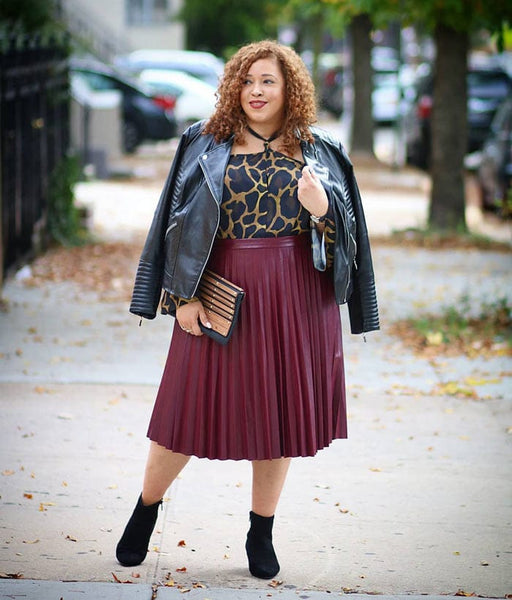 Leather skirt outfit ideas: What to wear with a leather skirt for women over 40