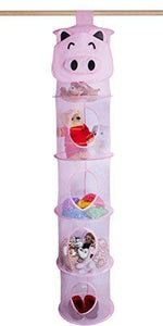 "5 Tier Storage Organizer - 12"" X 59"" - Hang it in Your Children's Room or Coat Closet for a Fun Way to Organize Toys or Store Gloves, Shawls, Hats and Mittens. Attaches Easily to Any Rod."
