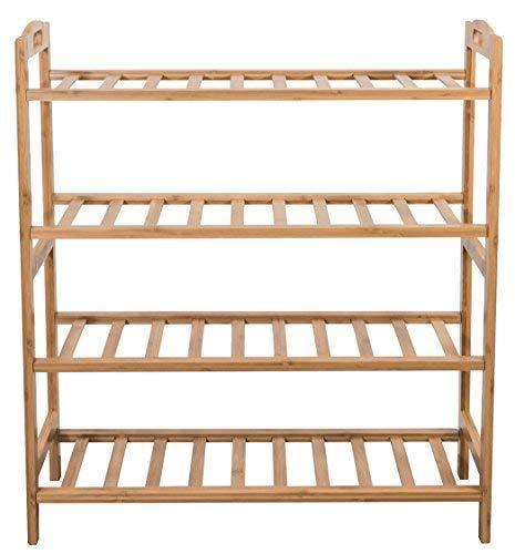 Budget friendly sorbus bamboo shoe rack 4 tier shoes rack organizer perfect bench for hallway entryway mudroom closet bedroom etc
