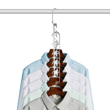 Load image into Gallery viewer, The best closet space saving hangers for clothes pants 10 5 inch metal wonder hangers stainless steel magic cascading hanger updated hook design closet organizer hanger