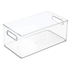 On amazon mdesign large plastic storage organizer bin holds crafting sewing art supplies for home classroom studio cabinet or closet great for kids craft rooms 14 5 long 8 pack clear