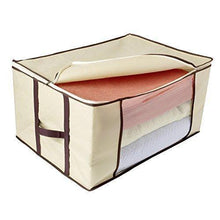 Load image into Gallery viewer, Exclusive ziz home blankets clothes storage bag 3 pack breathable anti mold material closet organization used for linen storage blanket storage sweater storage duvet storage bags eco friendly clear window