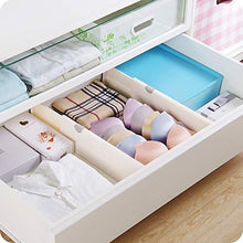 Load image into Gallery viewer, Home 4 pack adjustable drawer dividers organizer separators good grips dresser organizer for bedroom bathroom closet baby drawer desk kitchen storage