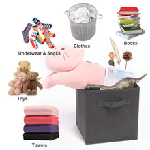 Load image into Gallery viewer, Shop for ximivogue storage box storage bins 3 pack storage cube basket bins cloth folding box closet drawers container dresser basket organizer shelf collapsible for underwear sock bra tight kids toy brown