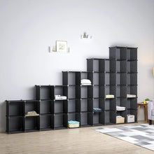 Load image into Gallery viewer, Selection kousi cube storage cube organizer cube storage shelves cubby organizing closet storage organizer cabinet shelving bookshelf toy organizer black varation 40 cubes