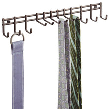 Load image into Gallery viewer, Top rated interdesign axis wall mount closet organizer rack for ties belts bronze
