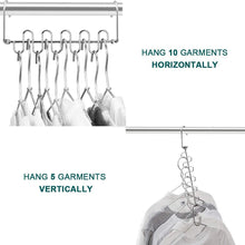 Load image into Gallery viewer, Storage organizer meetu magic cloth hanger wonder space saving hangers metal closet organizer for closet wardrobe closet organization closet system pack of 4