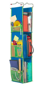 Top rated lockerworks 3 shelf hanging locker organizer 22 38 inches tall side pockets suspends from hooks shelf or closet rod royal blue green
