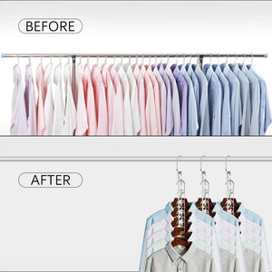 Storage closet space saving hangers for clothes pants 10 5 inch metal wonder hangers stainless steel magic cascading hanger updated hook design closet organizer hanger