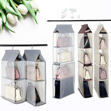 Load image into Gallery viewer, Shop for keepjoy detachable hanging handbag organizer purse bag collection storage holder wardrobe closet space saving organizers system pack of 2 grey