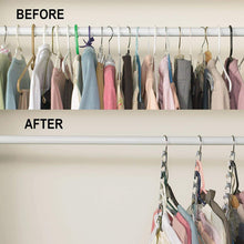 Load image into Gallery viewer, Best seller  premium presents closet organizer hanger save space closet hanging organizer clothes hangers coat hangers for wardrobe closet and closet storage brand comparable to wonder hangers 9 pack
