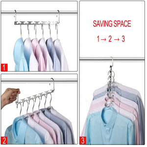 Save bloberey space saving hangers metal wonder magic cascading hanger 10 inch 6 x 2 slots closet clothing hanger organizers pack of 20