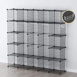 Related george danis wire storage cubes metal shelving unit portable closet wardrobe organizer multi use rack modular cubbies black 14 inches depth 5x5 tiers