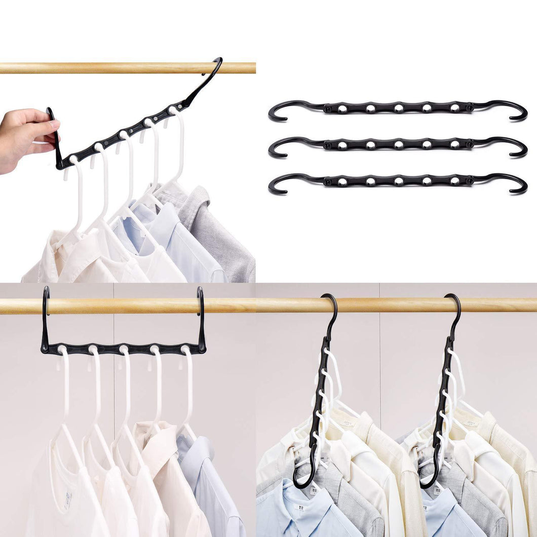 Storage organizer house day black magic hangers space saving clothes hangers organizer smart closet space saver pack of 10 with sturdy plastic for heavy clothes