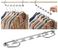 Load image into Gallery viewer, Storage organizer mcirco hanger organizer clothes hangers stainless steel belt hangers wardrobe closet hanger organizer for bags belts hanger set of 8