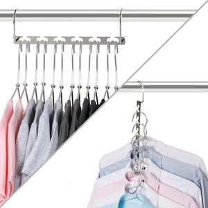 Save on bloberey space saving hangers metal wonder magic cascading hanger 10 inch 6 x 2 slots closet clothing hanger organizers pack of 20
