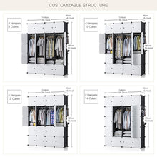 Load image into Gallery viewer, Best yozo closet organizer portable wardrobe cloth storage bedroom armoire cube shelving unit dresser cabinet diy furniture black 20 cubes