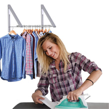 Load image into Gallery viewer, Amazon best stock your home retractable closet rod and clothes rack wall mounted folding clothes hanger drying rack for laundry room closet storage organization aluminum easy installation silver