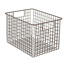 Load image into Gallery viewer, Best seller  mdesign large farmhouse deco metal wire storage organizer basket bin with handles for organizing closets shelves and cabinets in bedrooms bathrooms entryways hallways 8 high 4 pack bronze