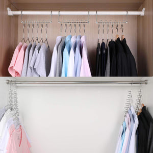 Shop for meetu space saving hangers magic wonder cloth hanger metal closet organizer for closet wardrobe closet organization closet system pack of 20