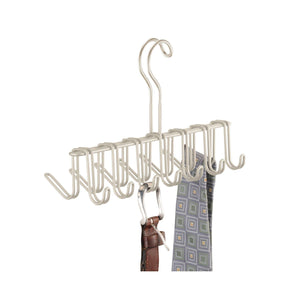 Shop here mdesign over the rod closet rack hanger for ties belts scarves pack of 2 satin