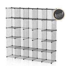 Load image into Gallery viewer, Results george danis wire storage cubes metal shelving unit portable closet wardrobe organizer multi use rack modular cubbies black 14 inches depth 5x5 tiers