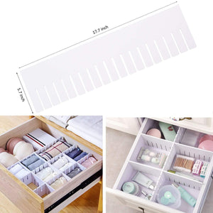 Related e bayker drawer organizer drawer dividers diy arbitrary splicing sub grid household storage spacer finishing shelves for home tidy closet desk makeup socks underwear scarves 5 7x17 7in 5 pack