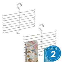 Load image into Gallery viewer, Results interdesign classico spine scarf closet organizer hanger set of 2 holder