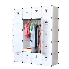 Load image into Gallery viewer, Discover the best unicoo diy 20 cube organizer cube storage bookcase toy organizer storage cabinet wardrobe closet deeper cube white