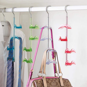 Great louise maelys 3 packs hanger rack 4 hooks closet organizer for handbags scarves ties belts 360 degree rotating
