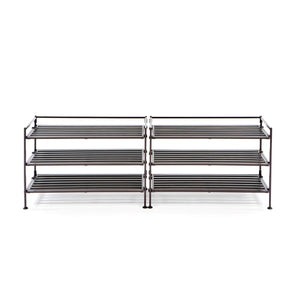 Online shopping seville classics 3 tier stackable 9 pair woodgrain resin slat shelf sturdy metal frame shoe storage rack organizer 2 pack perfect for bedroom closet entryway dorm room espresso