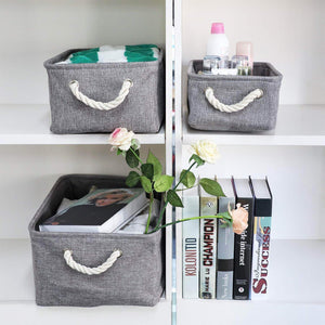Select nice kedsum fabric storage bins baskets foldable linen storage boxes with handles closet organizers bins cube storage baskets bins for shelves clothes closet nursery gray 3 pack
