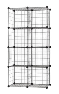 Exclusive finnhomy 12 storage cubes multi use diy wire grid organizer closet organizer shelf cabinet wire grids panels garage storage rack sets shelving units for books plants toys shoes clothes black
