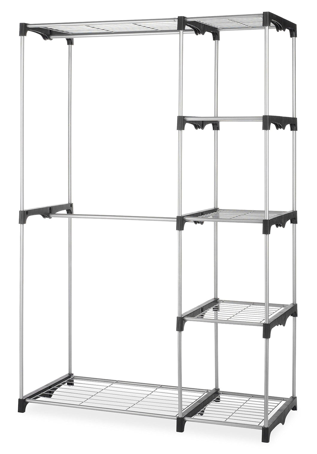 Budget whitmor double rod freestanding closet heavy duty storage organizer