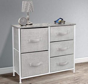 Order now sorbus dresser with 5 drawers furniture storage tower unit for bedroom hallway closet office organization steel frame wood top easy pull fabric bins gray